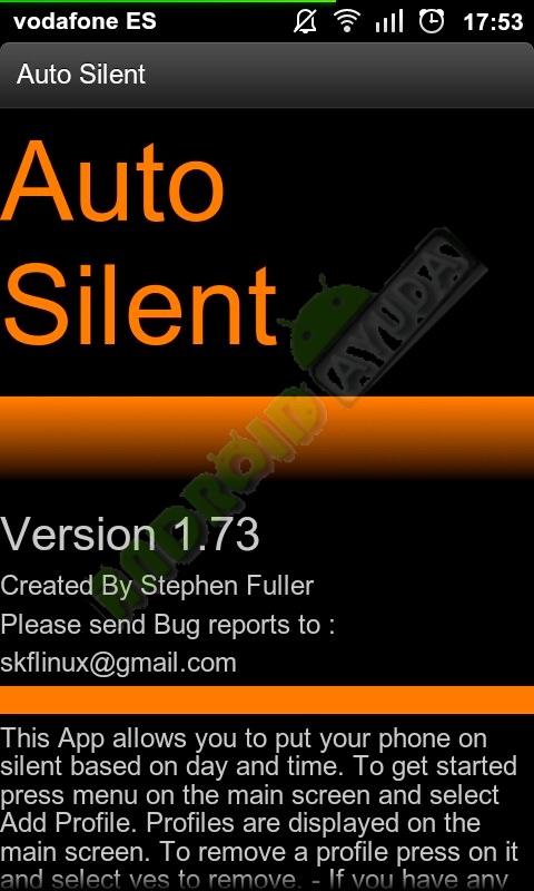 Aplicación para silenciar tu teléfono móvil Android