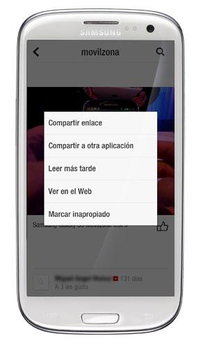 Captura de pantalla de Flipboard en un Samsung Galaxy S3
