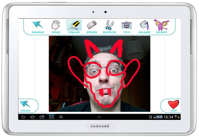 DrawPets captura de pantalla sobre Samsung Galaxy Note 10.1