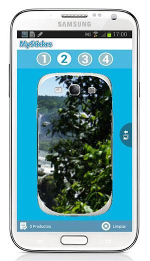 Aplicación MyStikrs sobre Samsung Galaxy Note 2