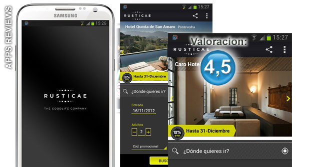 Aplicación Rusticae para Android