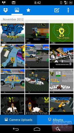 Selección fotos Dropbox