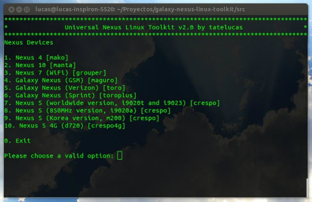 Universal Nexus Linux Toolkit