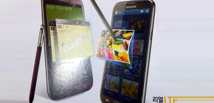 Galaxy Note 2 rojo marrón