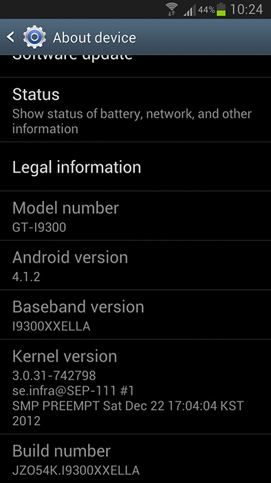 Actualización Samsung Galaxy S3