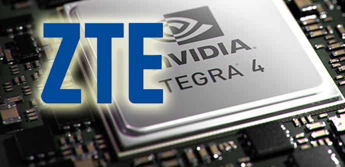 Chipo Nvidia Tegra 4 con el logo de ZTE