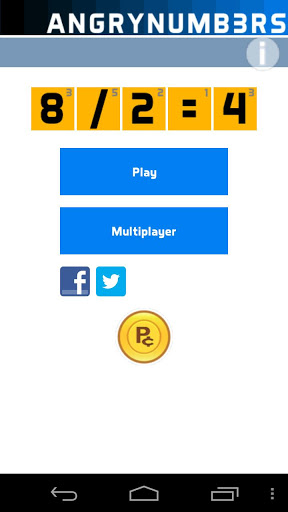 Juego para Android Angry Numbers