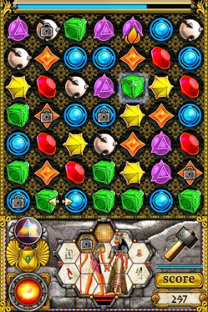 Interfaz del juego Jewellust