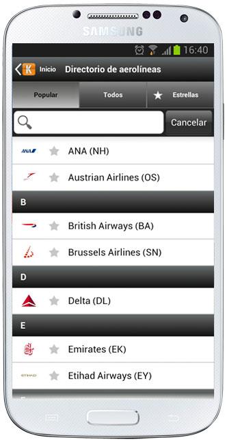 Lista de aerolíneas