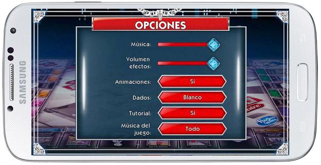 Opciones Monopoly Millonario Android