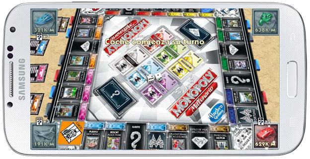 Tablero en Monopoly Millonario Android
