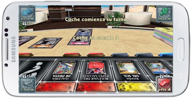 Animación en Monopoly Millonario Android