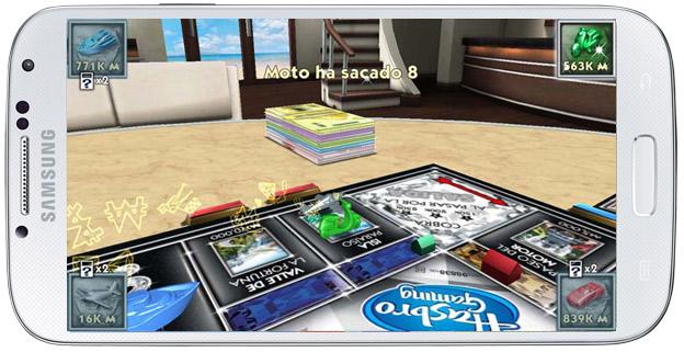Ficha avanzando en Monopoly Millonario Android