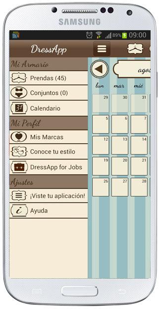 Interfaz de DressApp