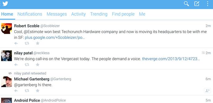 Nueva versión Beta de Twitter