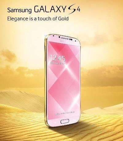 Samsung se suma a la fiebre del oro con el Galaxy S4 Gold Edition