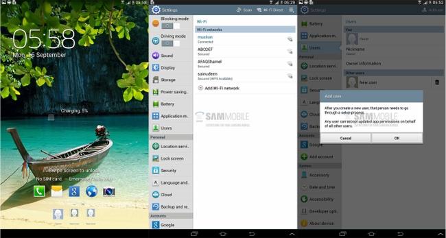 Las Galaxy Tab 3 8.0 y 10.1 se actualizarán con función multiusuario