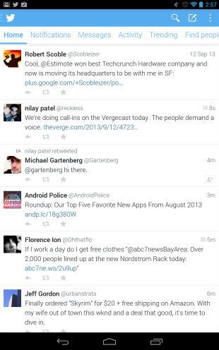 Version Beta 5.0 de Twitter  para Android