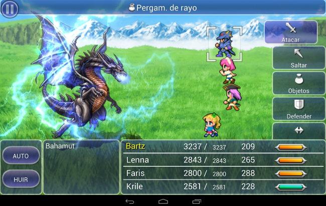 Versión Android del jeugo Final Fantasy V