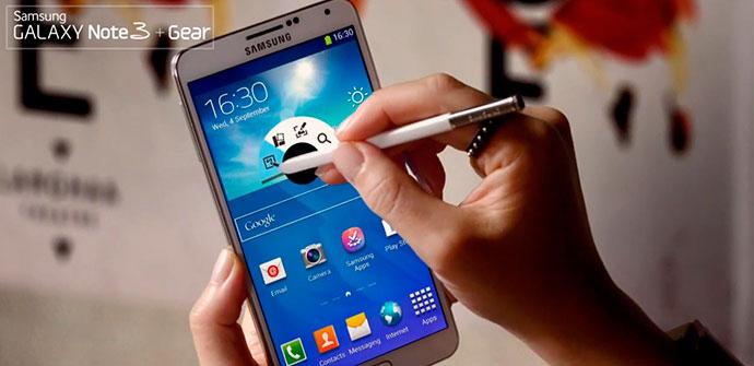 Los Samsung Galaxy Note 3 y Galaxy Gear a escena en su primer anuncio