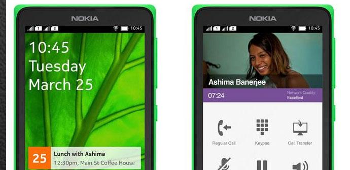 Nokia Normandy Interfaz Android