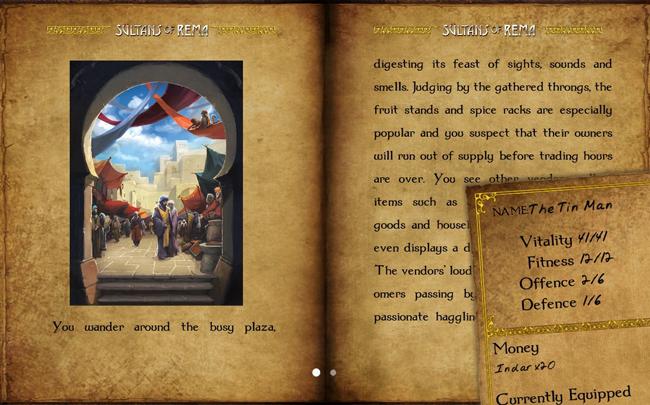 Interfaz del juego Sultan of Rema