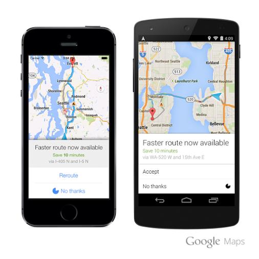 Google Maps en terminales móviles