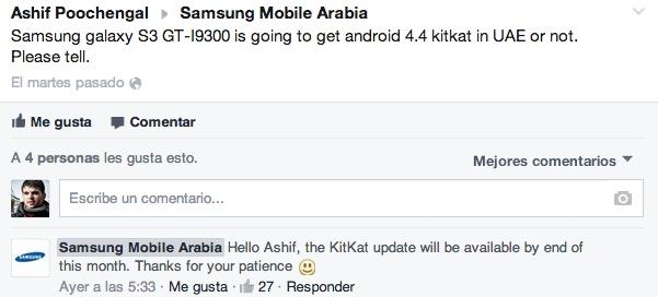 Galaxy S3 Actualización