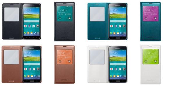 Fundas oficiales tipo S View para el Galaxy S5