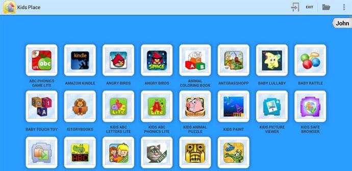 Aplicación Kids Place