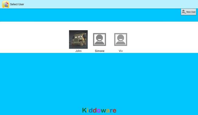Inicio de la aplicación Kids Place