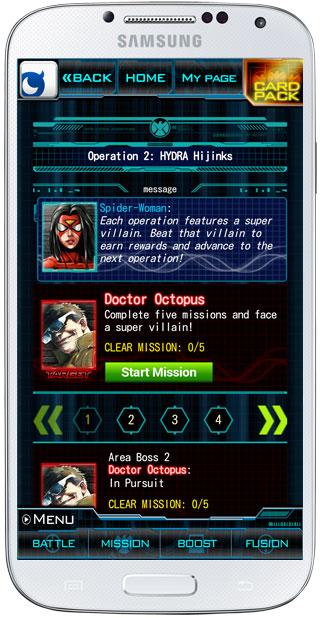 Interfaz en Marvel War of Heroes