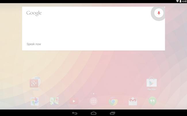 Interfaz con Google Now Launcher