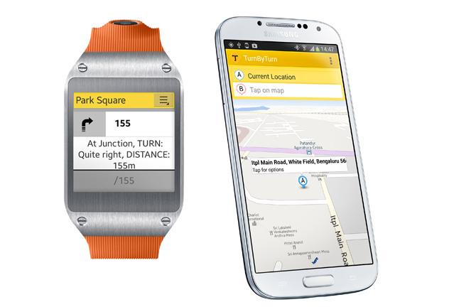 TurnByTurn en el Samsung Gear 2