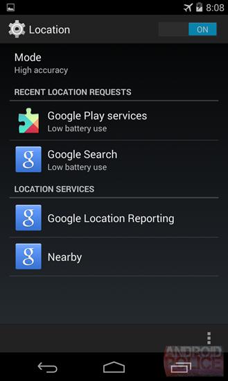 Google Nearby en un terminal Android
