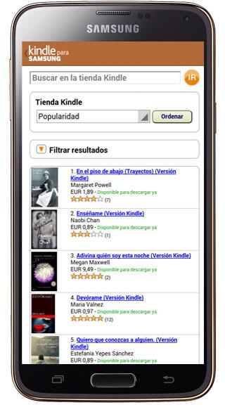 Listado Kindle para Samsung