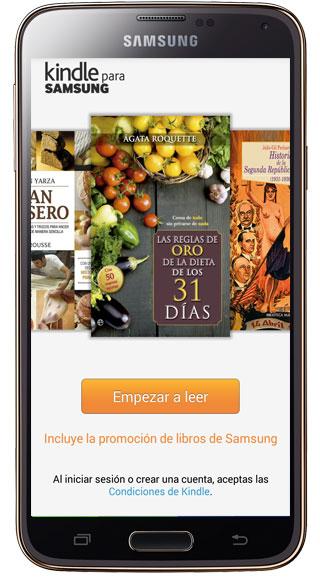 Inicio Kindle para Samsung