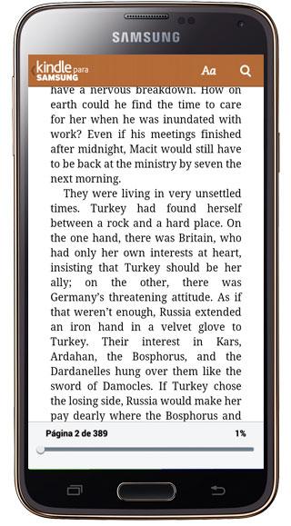 Leer libro en Kindle para Samsung
