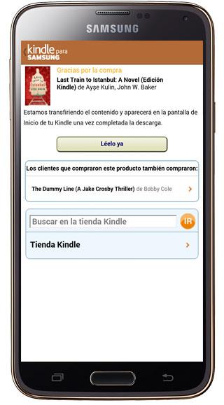 Compra de libro en Kindle para Samsung