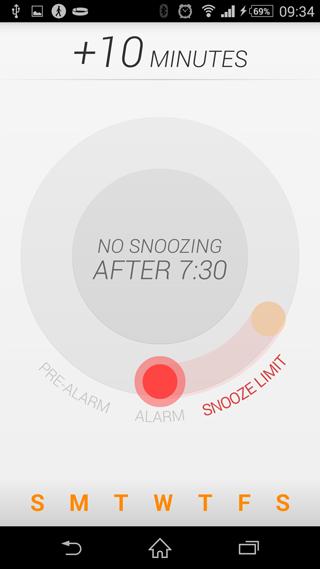 Uso de la aplicación Life Time Alarm Clock