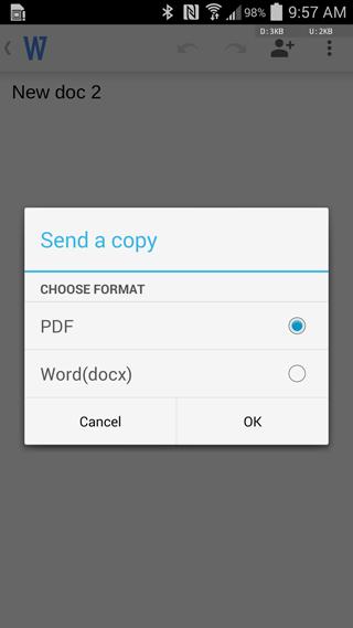 Nuevas opciones de Documentos de Google