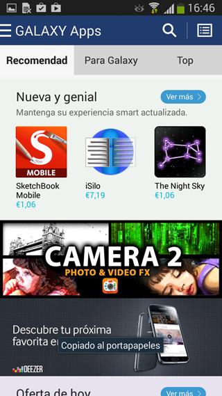 Nueva tienda Galaxy Apps