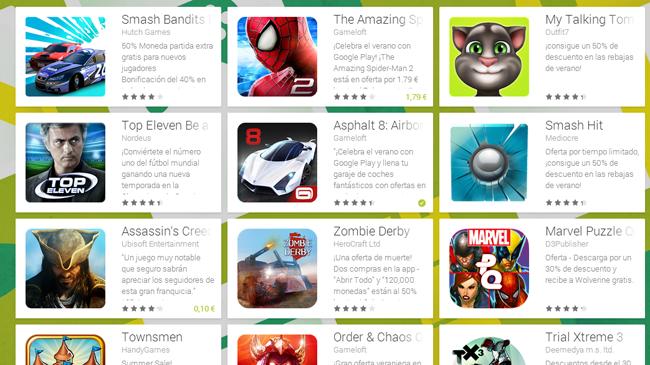 Juegos con descuento en Google Play