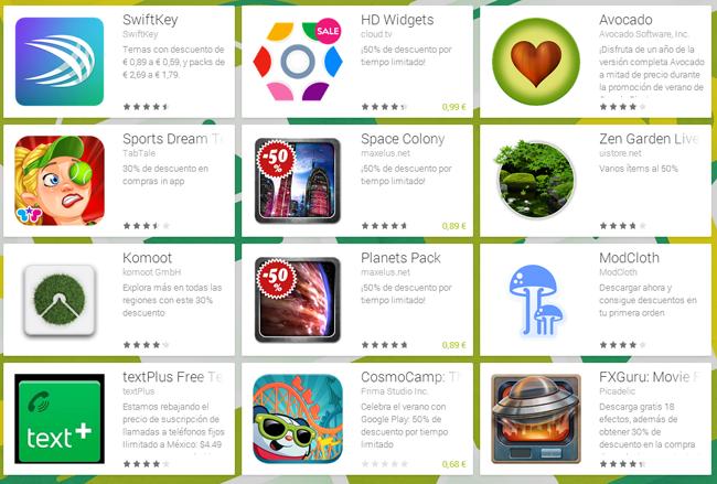Aplicaciones con descuento en Google Play