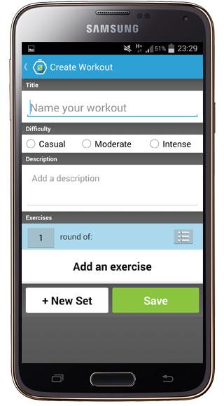 Creación en Workout Trainer