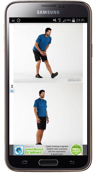 Imágenes explicactivas en Workout Trainer