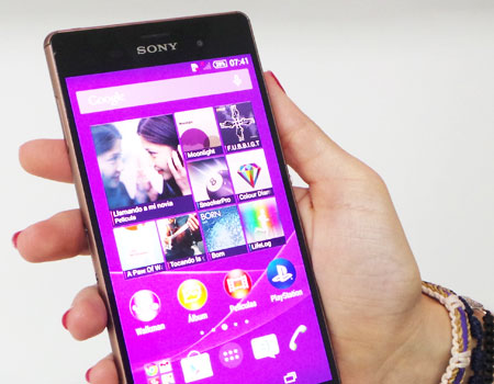 Apertura de Sony Xperia Z3 cobre