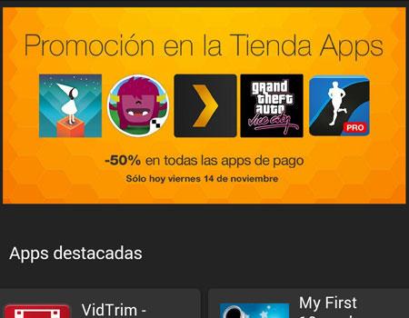 Apertura Tienda de Amazon para Android