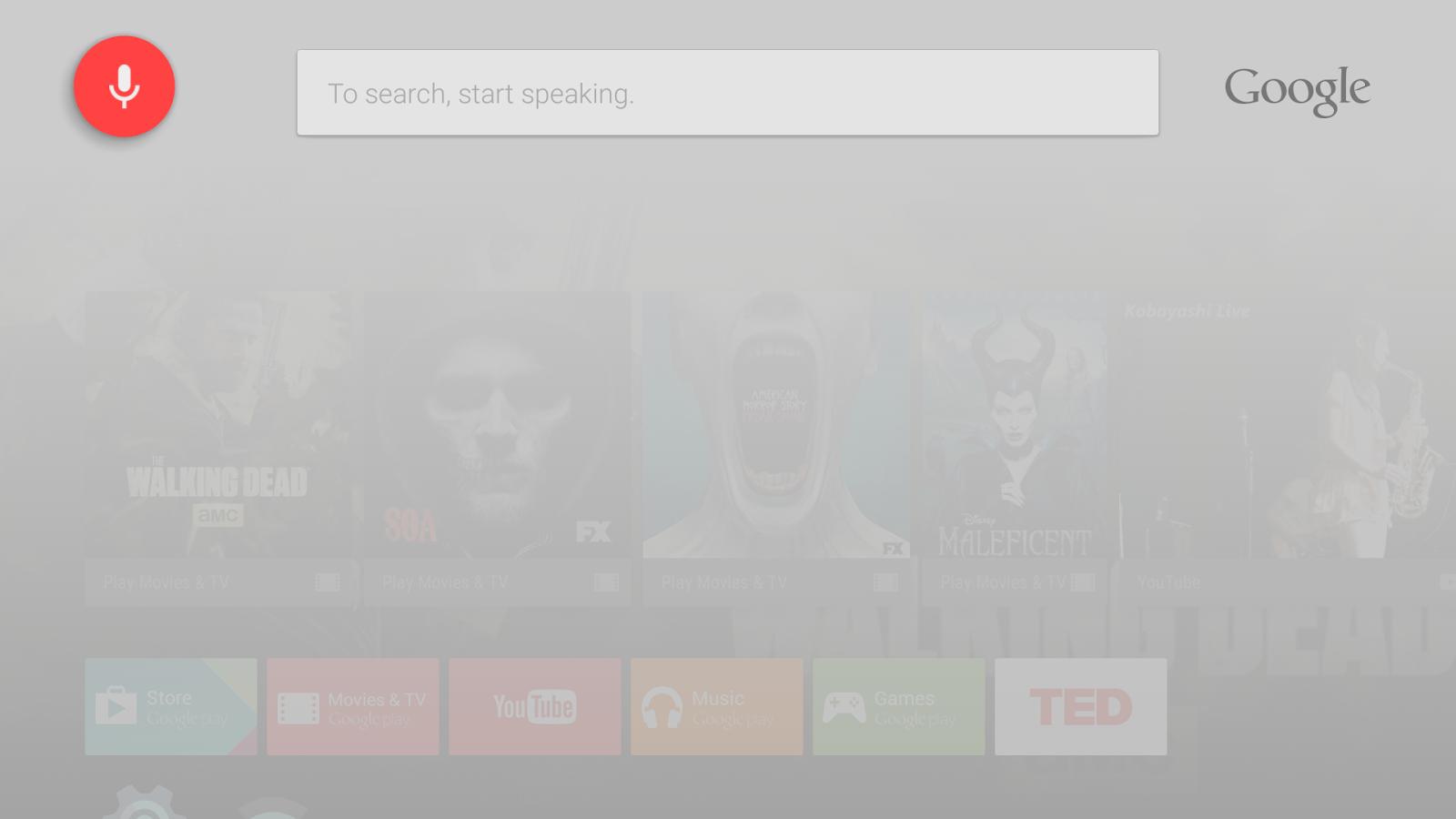 Uso de Google Search en Android TV