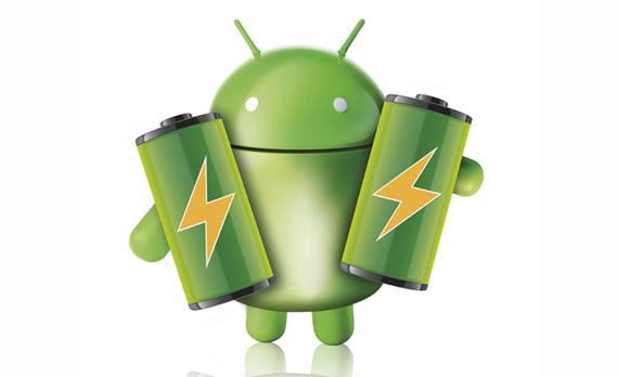 Logotipo de Android con baterías